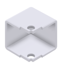 x-cett Ecke U Ansicht oben weiß Verbindungsstück Zubehör