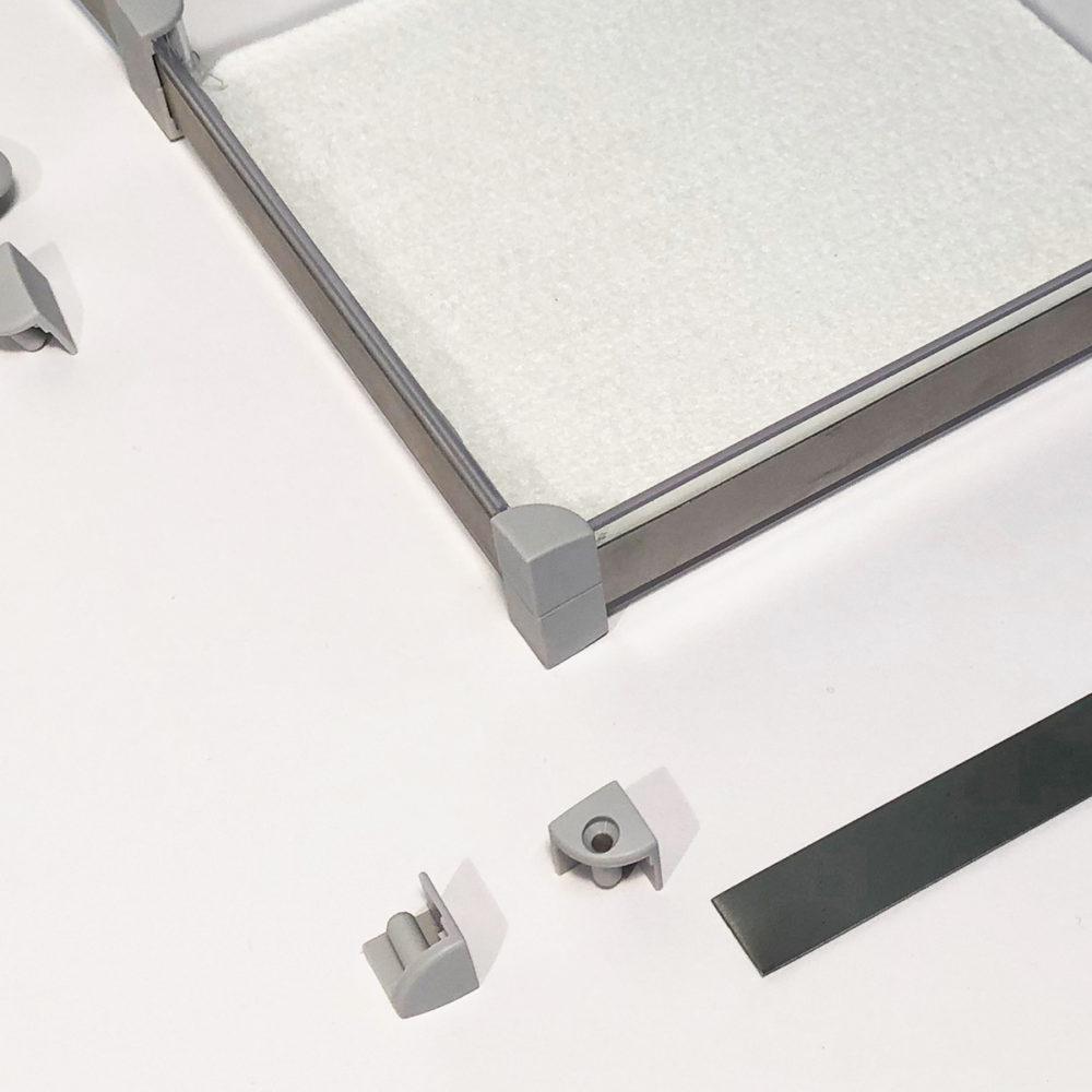 Eckverbinder Verbindungsteile Anwendungsbild Anwendung Montage x-cett Casette