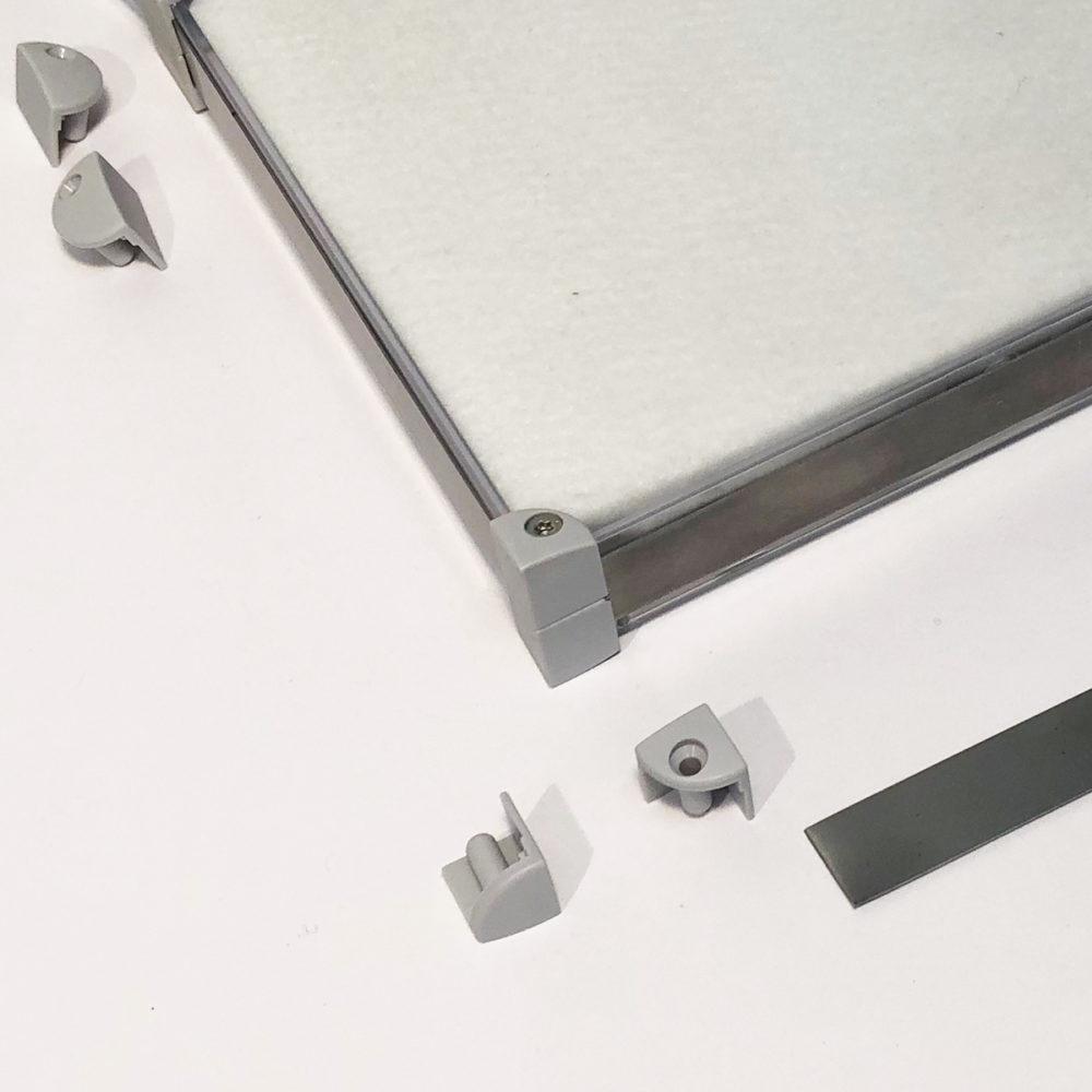 Eckverbinder Senkung Verbindungsteile Anwendungsbild Anwendung Montage x-cett Casette