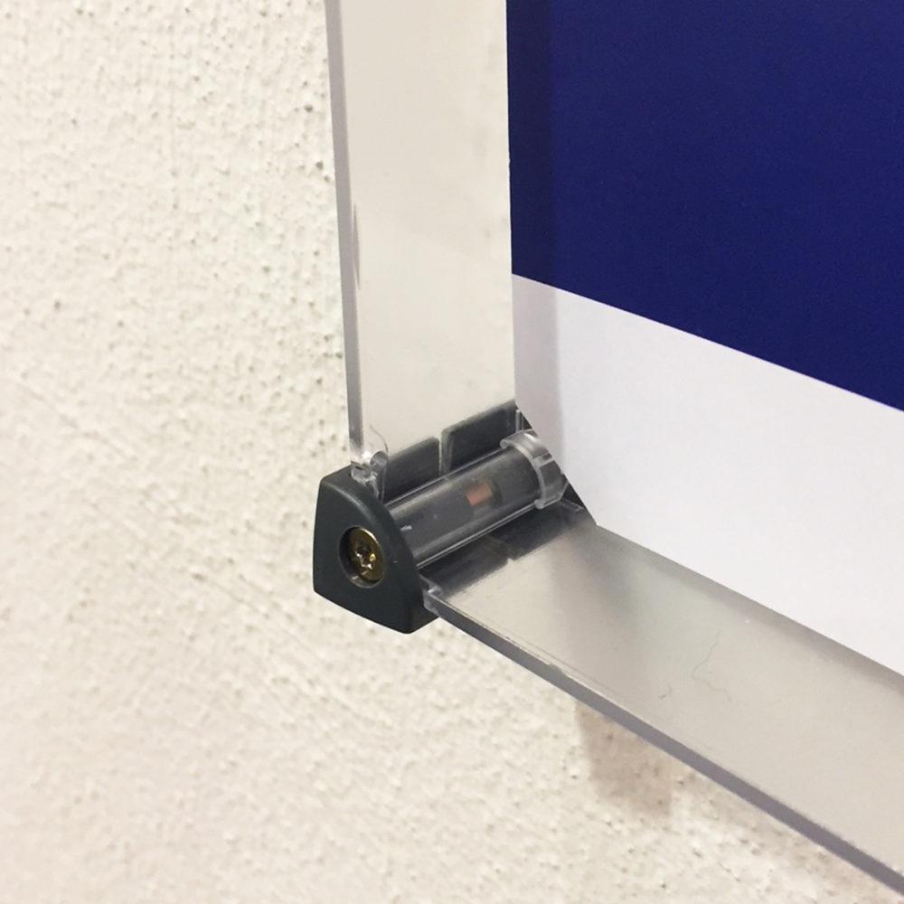 Eckverbinder Senkung Verbindungsteile Anwendungsbild Anwendung Montage x-cett Casette dunkelgrau anthrazit