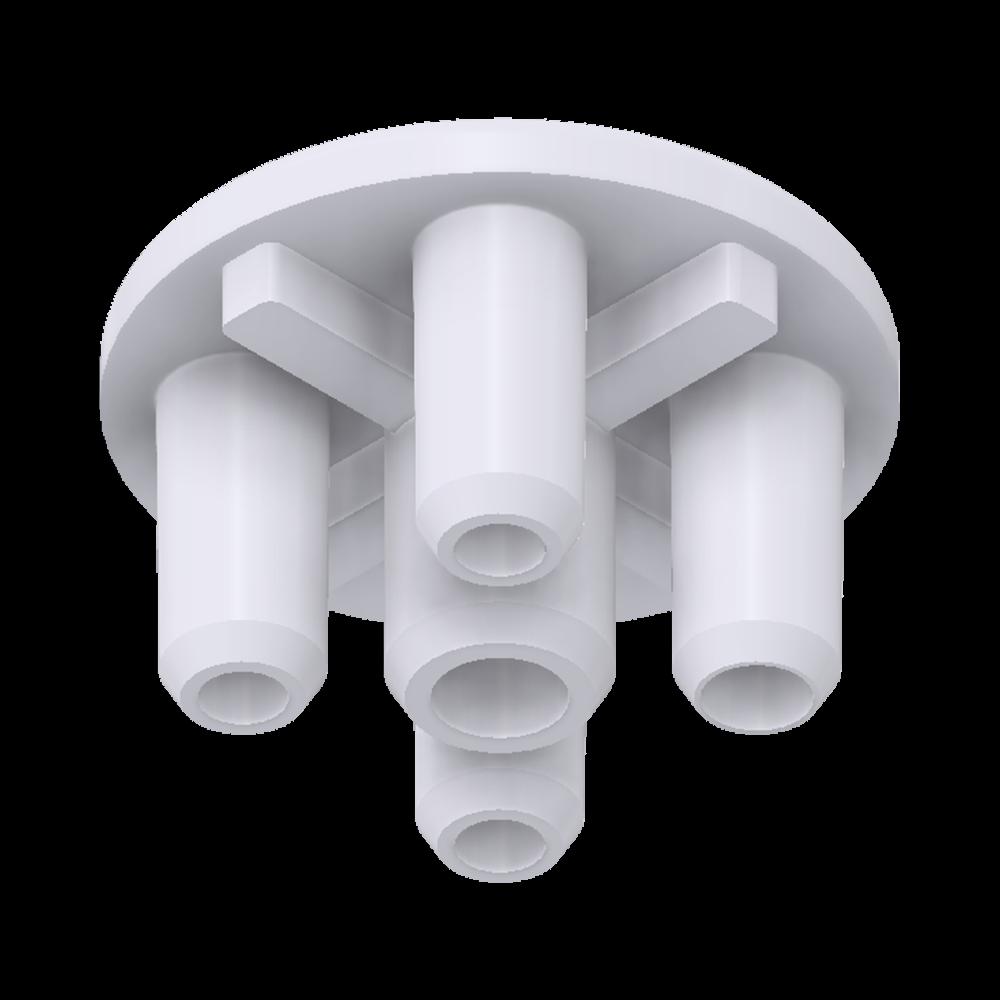 x-cett Außenknoten Eckverbinder innen Verbindungsstück weiß Ansicht unten Zubehör