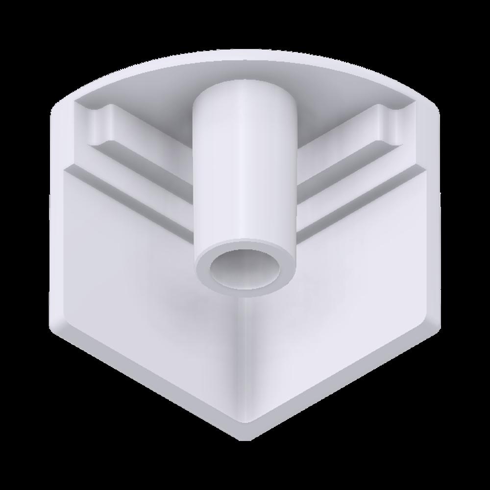 x-cett Eckknoten Eckverbinder innen Verbindungsstück weiß Ansicht unten Zubehör