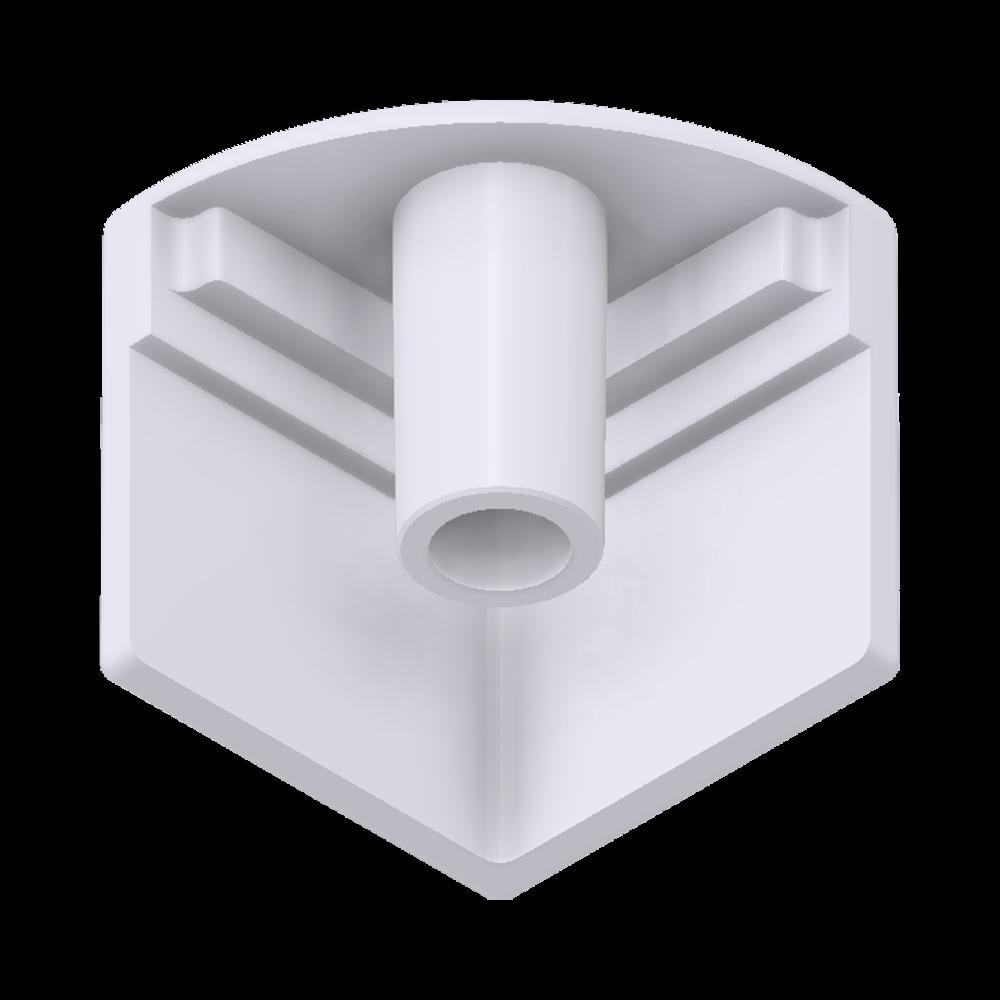 x-cett Eckkoten Eckverbinder innen Verbindungsstück weiß Ansicht unten Zubehör