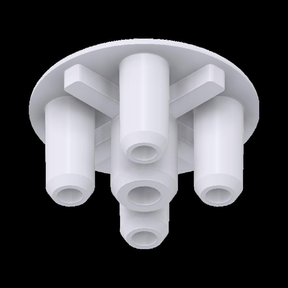 x-cett Eckverbinder Verbindungsstück weiß Ansicht unten Zubehör