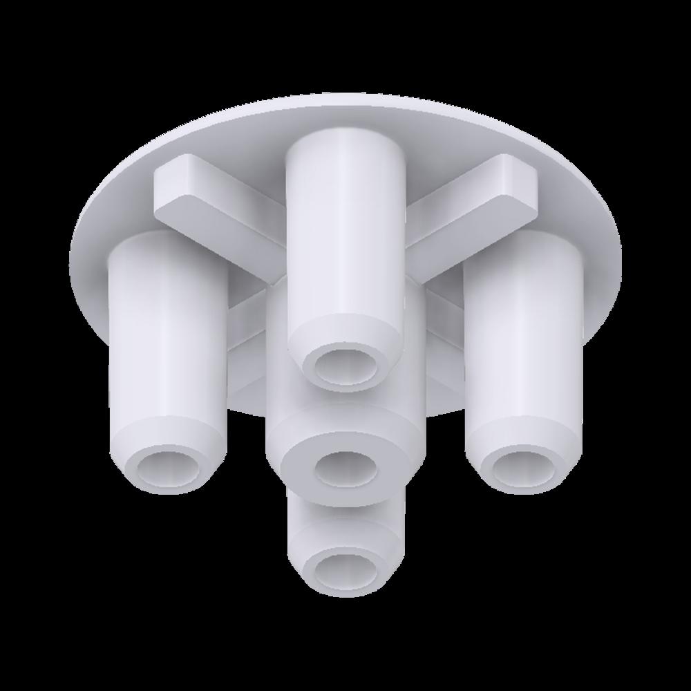 x-cett Eckverbinder innen Verbindungsstück weiß Ansicht unten Zubehör