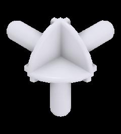 x-cett Eckverbinder innen Verbindungsstück weiß Ansicht oben Zubehör