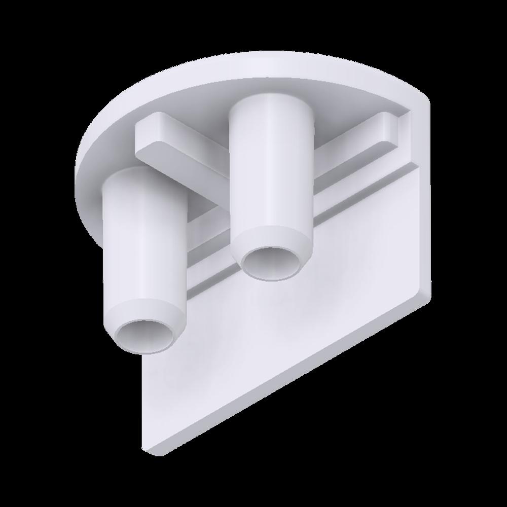 x-cett Randknoten Verbindungsstück weiß Ansicht unten Zubehör
