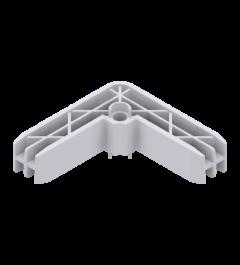 x-cett Winkel Ansicht oben weiß Verbindungsstück Zubehör