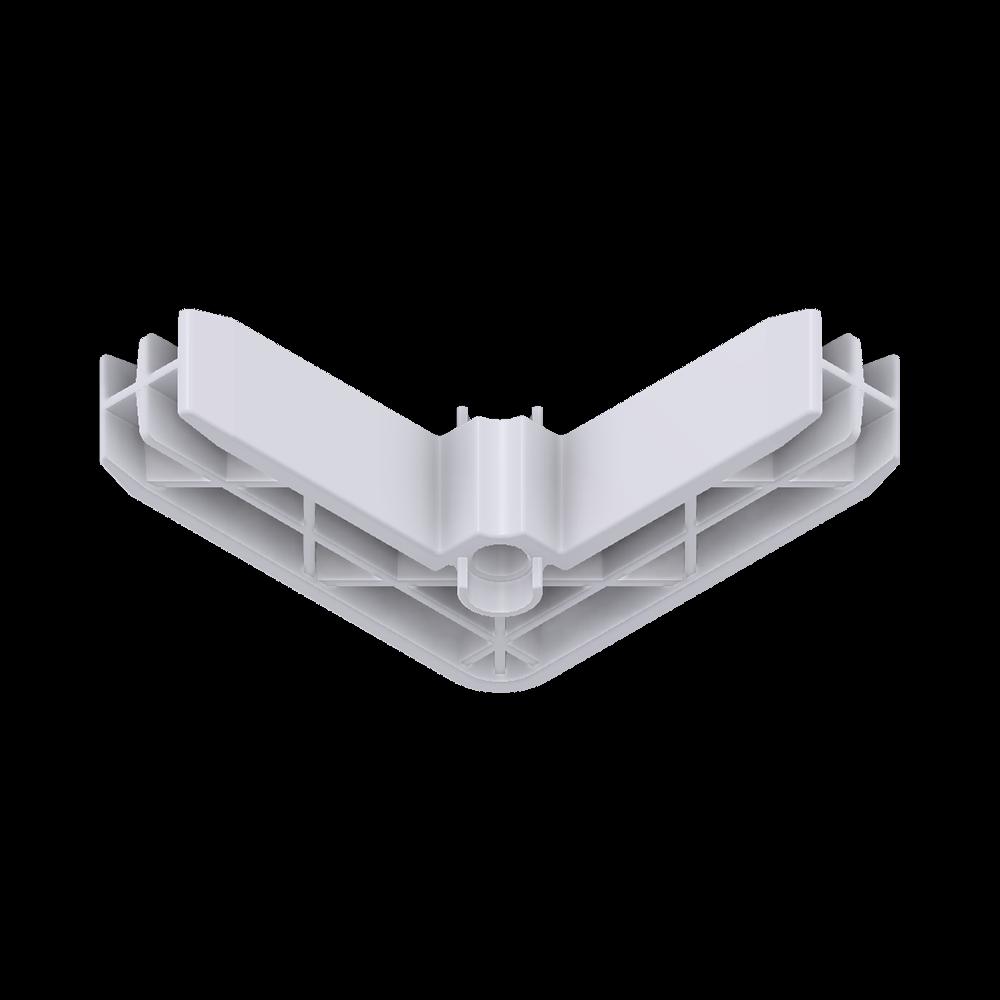 x-cett Winkel Ansicht unten weiß Verbindungsstück Zubehör