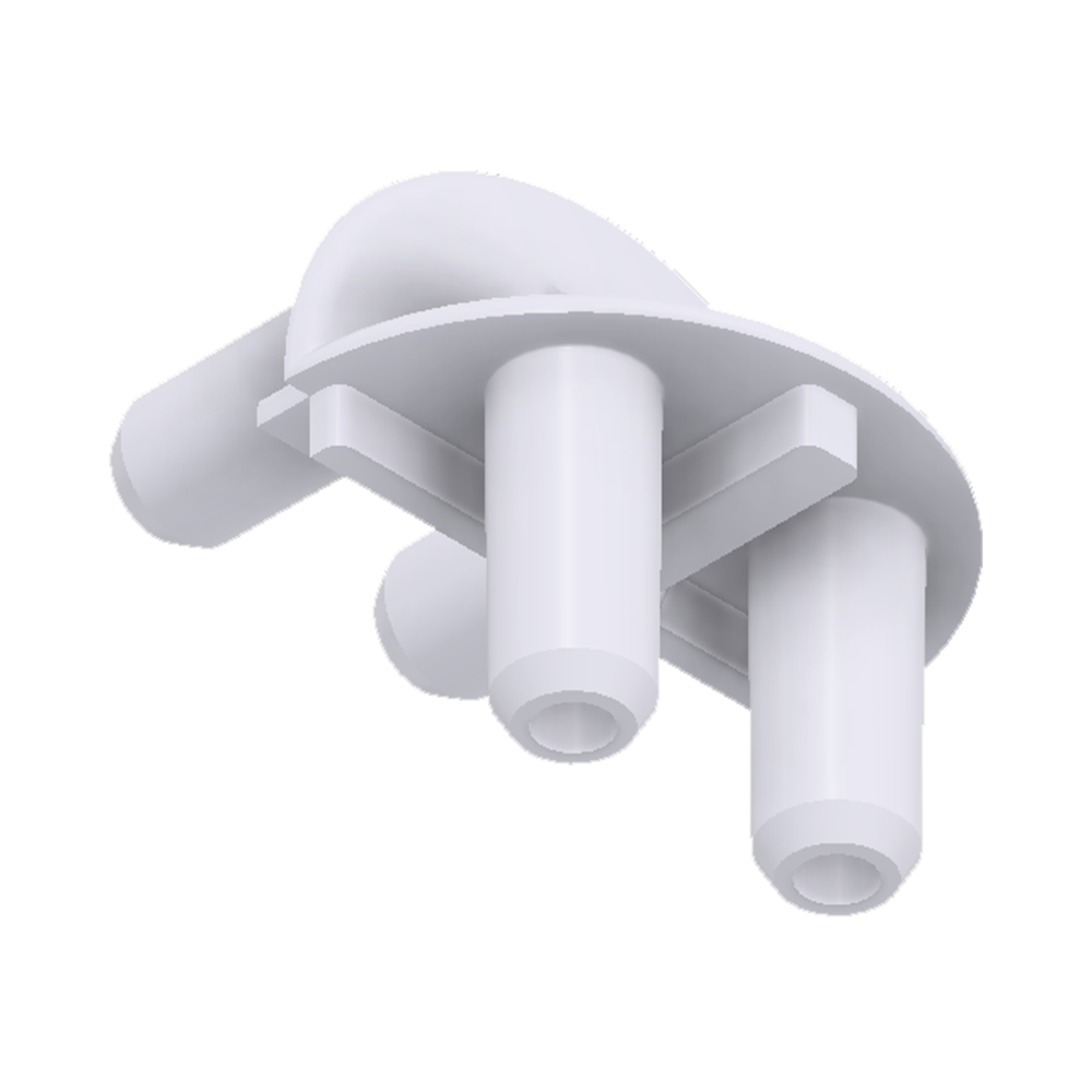 x-cett Eckverbinder weiß Bauteil Verbindungsstück Ansicht unten Zubehör