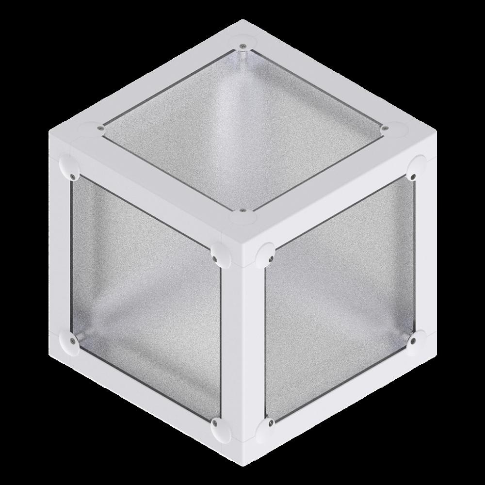 x-cett Würfel Box weiß Glas Milchglas Einzelteil Baustein Mobeliar einzigartig individuell fotos bilder Möbelstück aufbewahrung lagerung