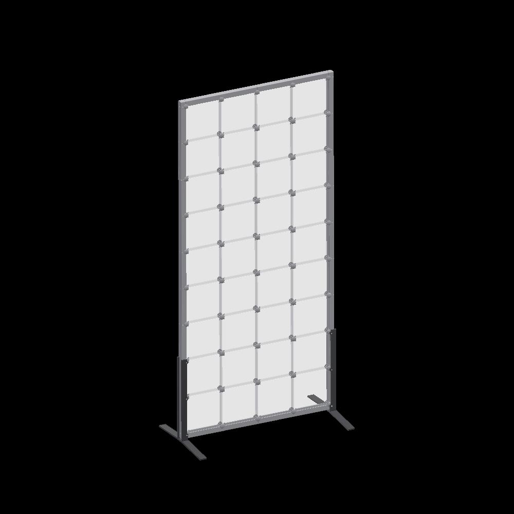 x-cett Infowand Sichtschutz Glas Milchglas grau Baustein Casette