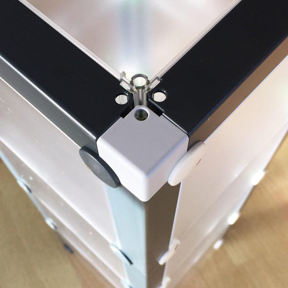 Rahmenteil Eckschiene Schutz casette x-cett Schutzteil anthrazit würfel ecke