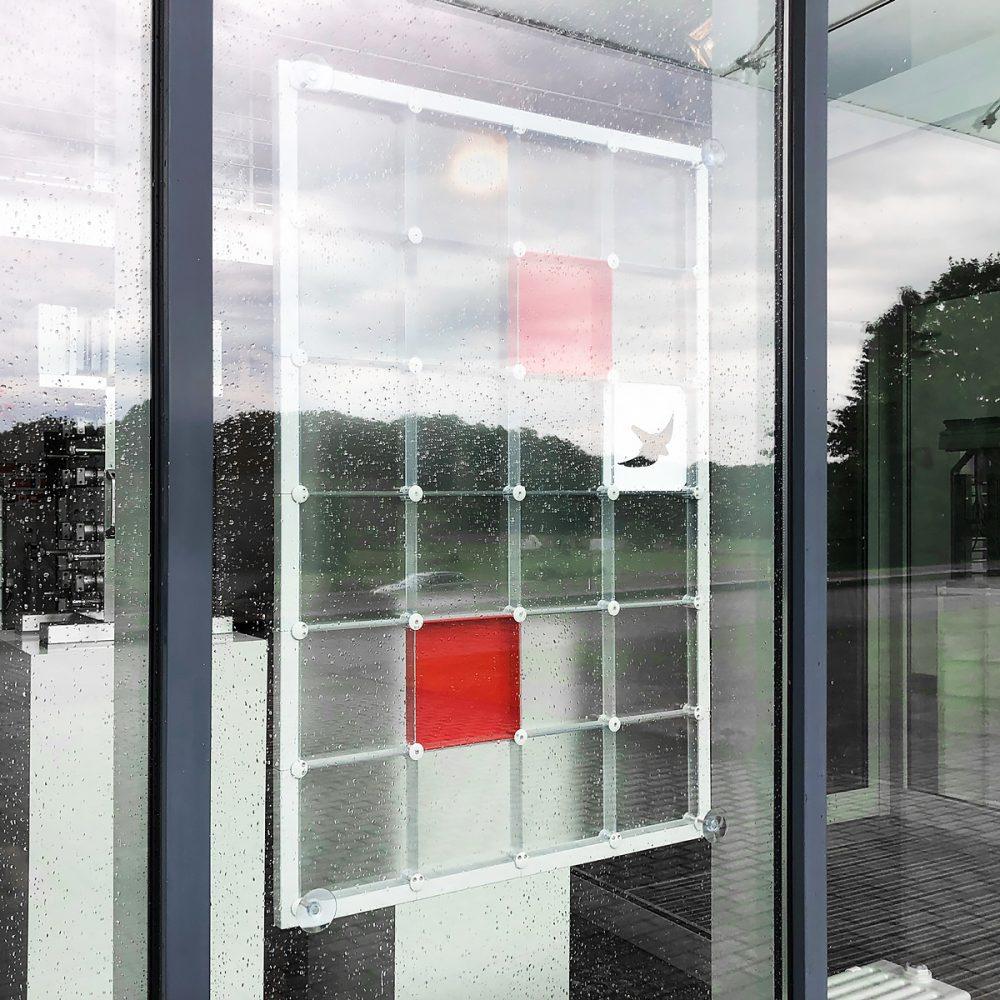 Sichtschutz Wandschutz Raumtrenner mit Saugnäpfen casette inlays motive Bilder x-cett lichtdurchlässig transparent milchglas