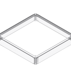 x-cett Rahmen cassette befestigung Montage halt Schutz milchglas