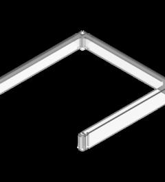 x-cett Rahmen cassette befestigung Montage halt Schutz milchglas geöffnet