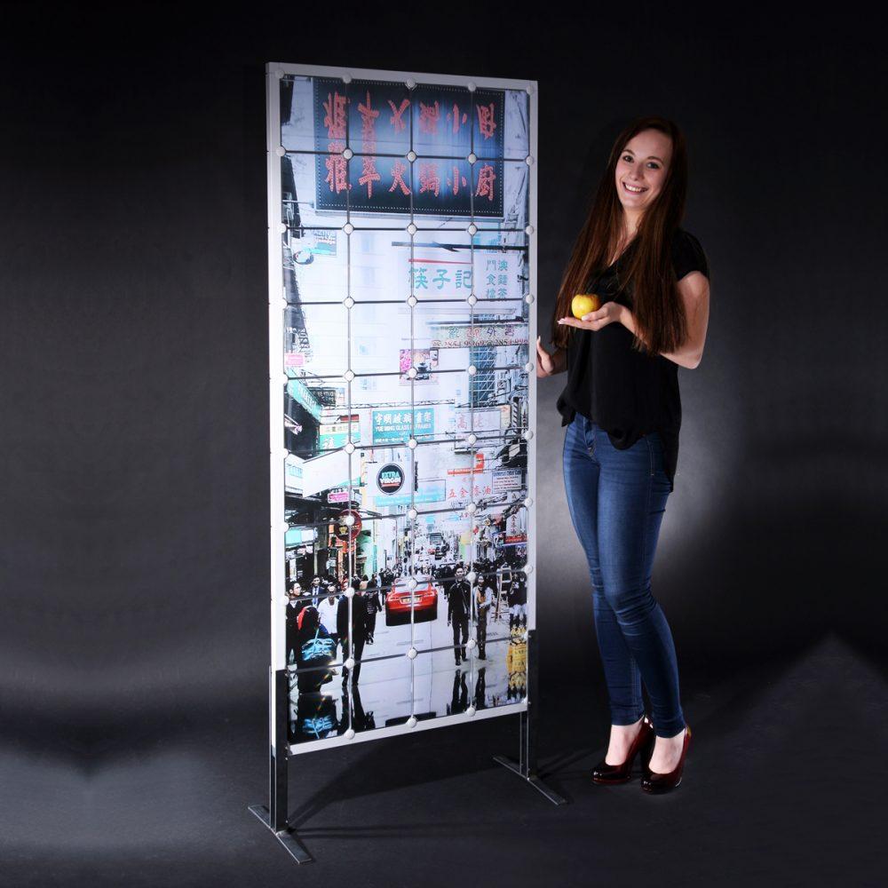 x-cett Sichtschutz Trennwand Würfel Glas Milchglas Raumtrenner Stellwand bunt individuell fotos bilder