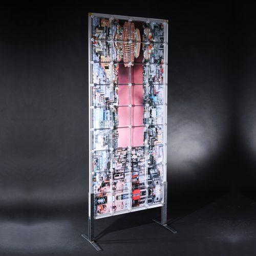 Sichtschutz Stellwand Trennwand Sichtwand Raumtrenner Deko Dekoration Dekoartikel Büro Werbung Werbeartikel x-cett Cassette individuell kreativ personalisiert